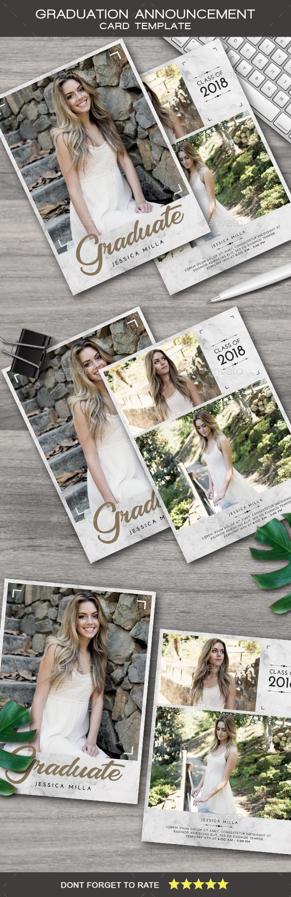 Graduation Announcement Card - Cards & Invites Print Templates