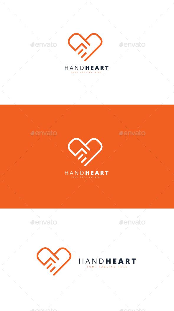 Hand Heart Logo - Humans Logo Templates