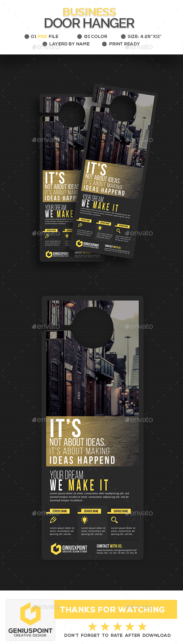Business Door Hanger - Miscellaneous Print Templates