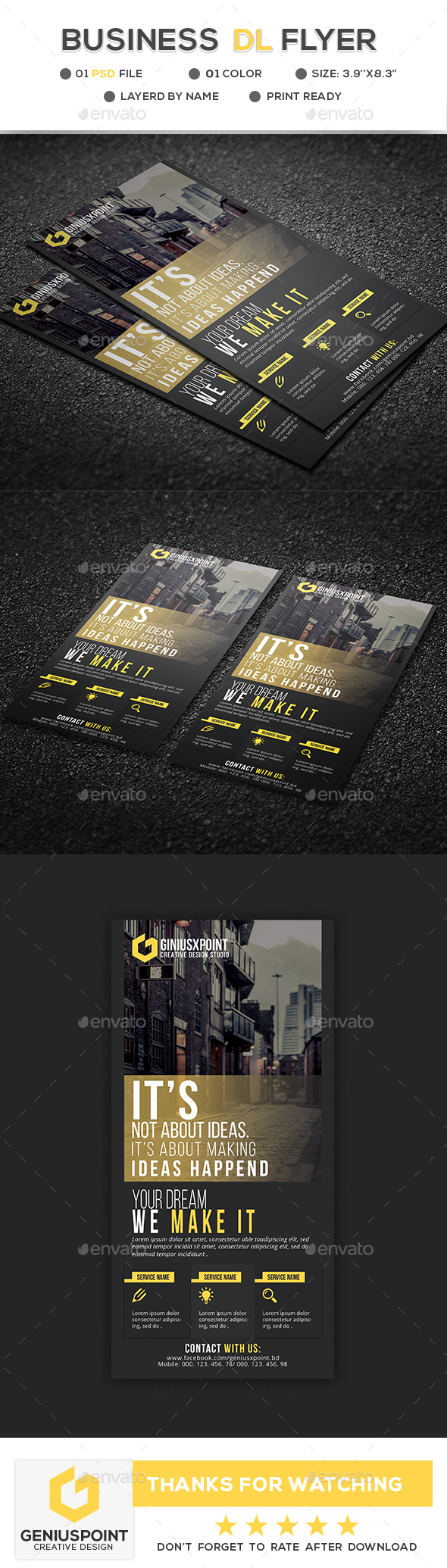 Business DL Flyer - Flyers Print Templates