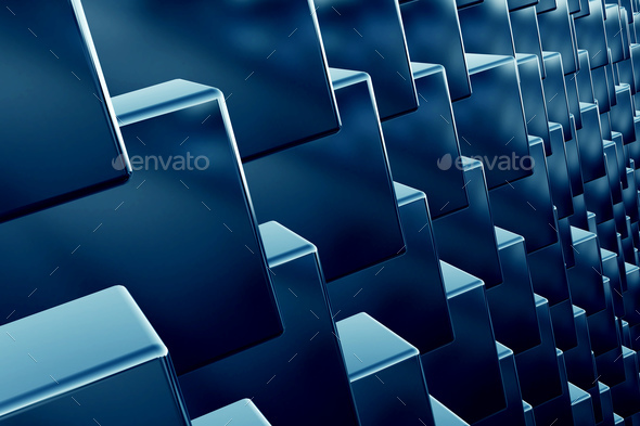 Cubes array as abstract 3d background - Stock Photo - Images