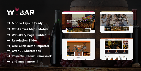 Wibar – Winery Responsive WooCommerce WordPress Theme