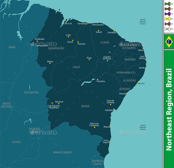 Northeast Region of Brazil - Travel Conceptual