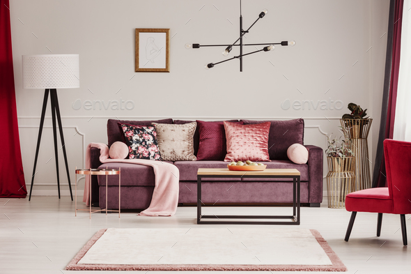 Woman's living room interior - Stock Photo - Images