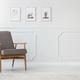 Grey wooden armchair in interior - PhotoDune Item for Sale
