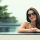 Young Pretty Fashion Woman Posing Outdoor in Swimming Pool - VideoHive Item for Sale
