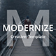 Modernize Creative Google Slide Template - GraphicRiver Item for Sale