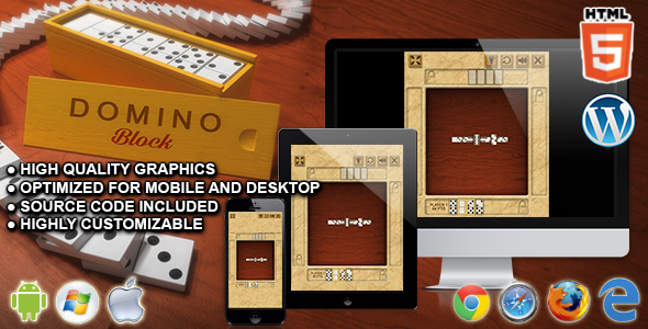 Domino Block - HTML5 Logic Game - CodeCanyon Item for Sale