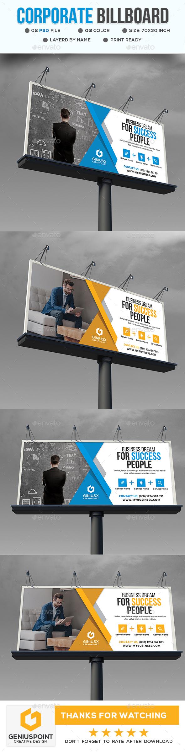 Corporate Bill Board - Signage Print Templates