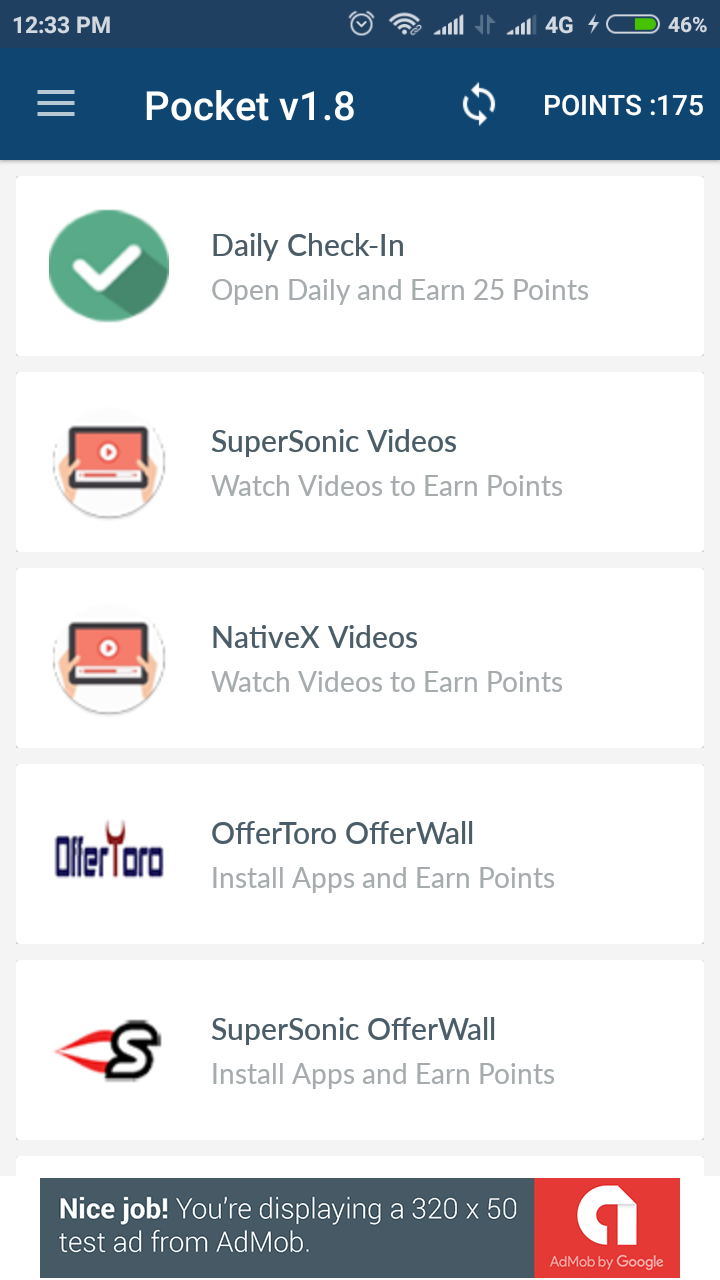 Rewards app android
