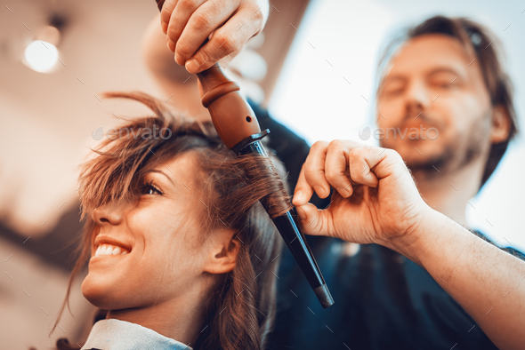 At The Hairdresser's - Stock Photo - Images