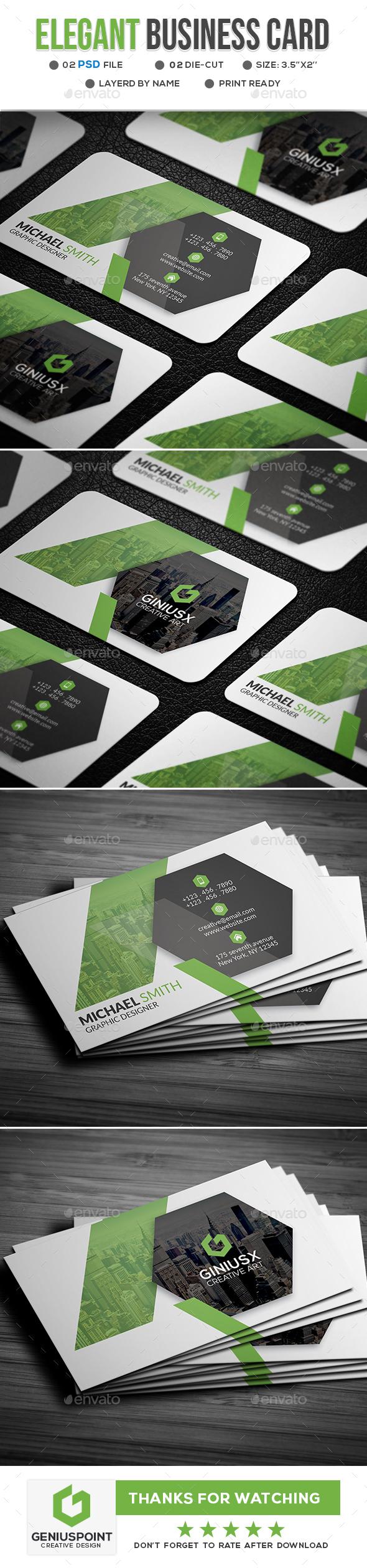 Elegant Business Card - Business Cards Print Templates