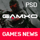 GAMXO News I News & Blog PSD Template