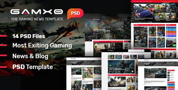 GAMXO News I News & Blog PSD Template - Creative PSD Templates
