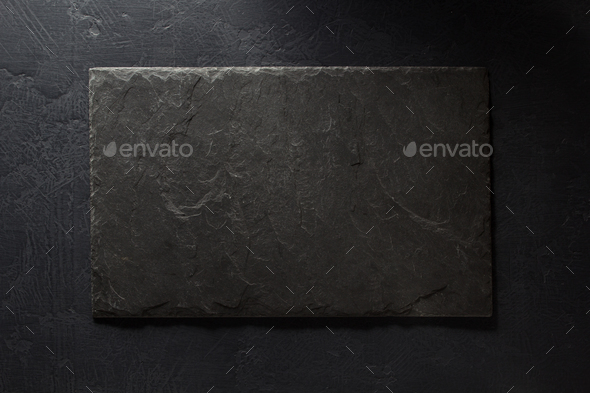 stone and slate on black - Stock Photo - Images