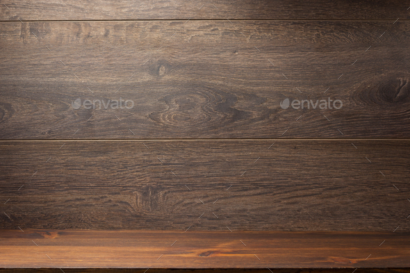 wooden brick and brown background - Stock Photo - Images