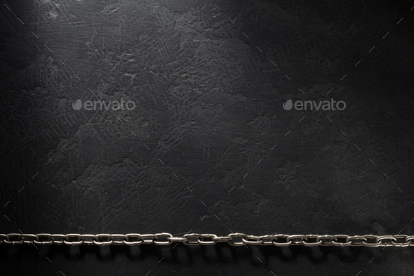 metal chain on black - Stock Photo - Images