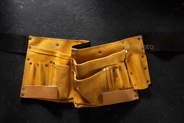 tool belt on black - Stock Photo - Images
