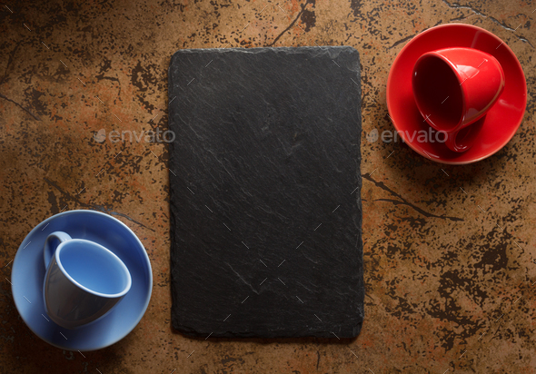 empty cup at abstract background - Stock Photo - Images