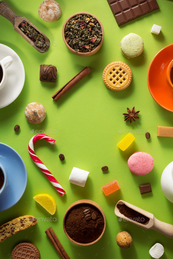 coffee, tea and cacao - Stock Photo - Images
