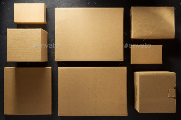 cardboard box on  background - Stock Photo - Images