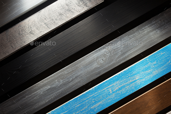 wooden board at black background - Stock Photo - Images