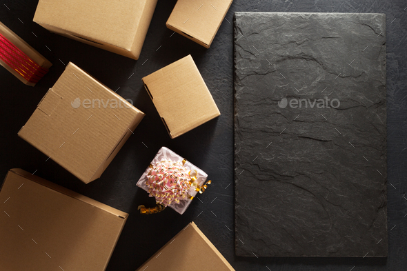 cardboard box on  background - Stock Photo - Images