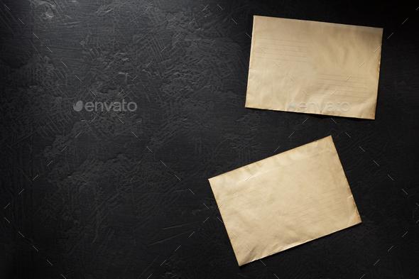 old postal envelope - Stock Photo - Images