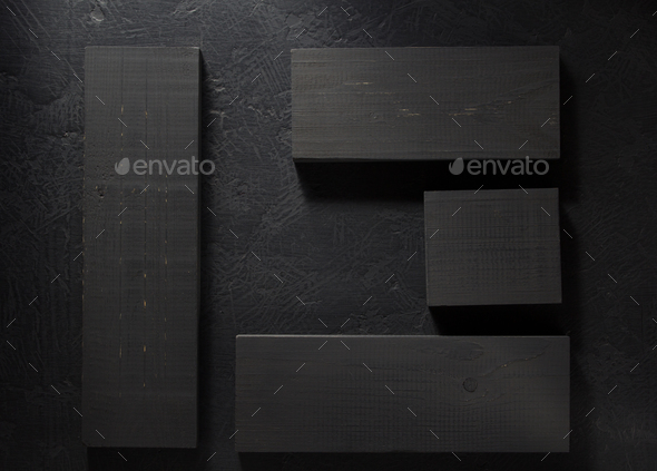 board on black background - Stock Photo - Images