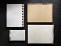 notebook on black background - PhotoDune Item for Sale