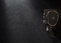 movie camera at black background - PhotoDune Item for Sale