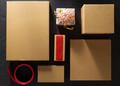cardboard box  on  black - PhotoDune Item for Sale