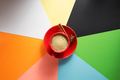cup of coffee at colorful paper - PhotoDune Item for Sale