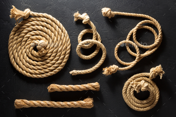 ship rope at old  background - Stock Photo - Images