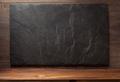 black slate stone on wood - PhotoDune Item for Sale