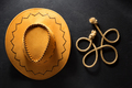 cowboy hat on  black - PhotoDune Item for Sale