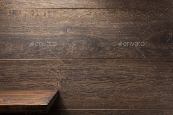 shelf and wall wooden background - Stock Photo - Images