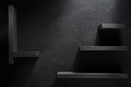wooden shelf  on black - PhotoDune Item for Sale