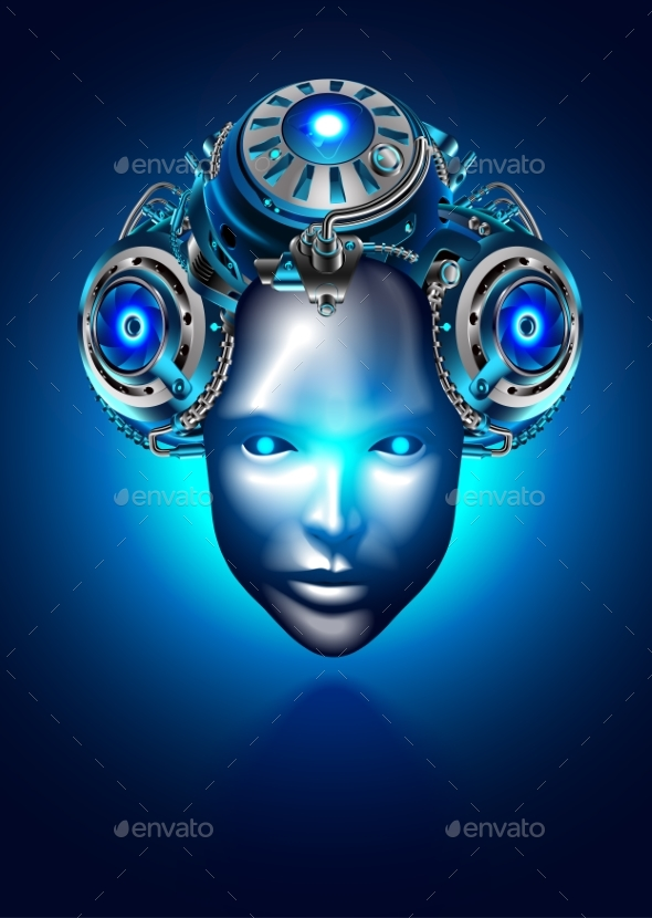 Robot Woman Face or Head Robotic Female - Computers Technology