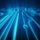 Blue Lines Drawn By Bright Spots Create an Abstract Image of a Circuit Board - VideoHive Item for Sale