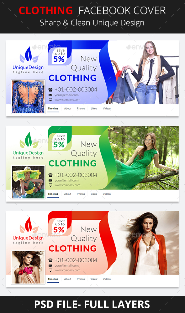 Clothing Facebook Cover - Facebook Timeline Covers Social Media