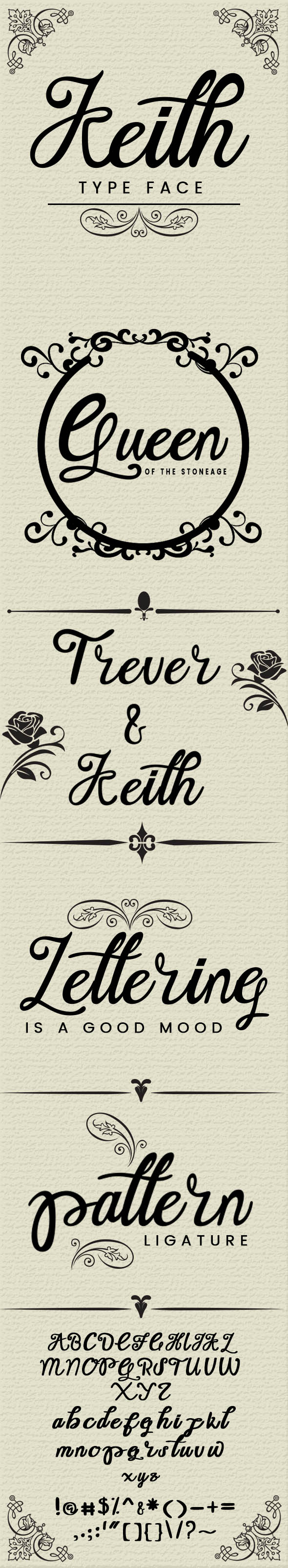 Keith Typeface - Script Fonts