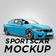 M4 Sportscar Mockup - GraphicRiver Item for Sale
