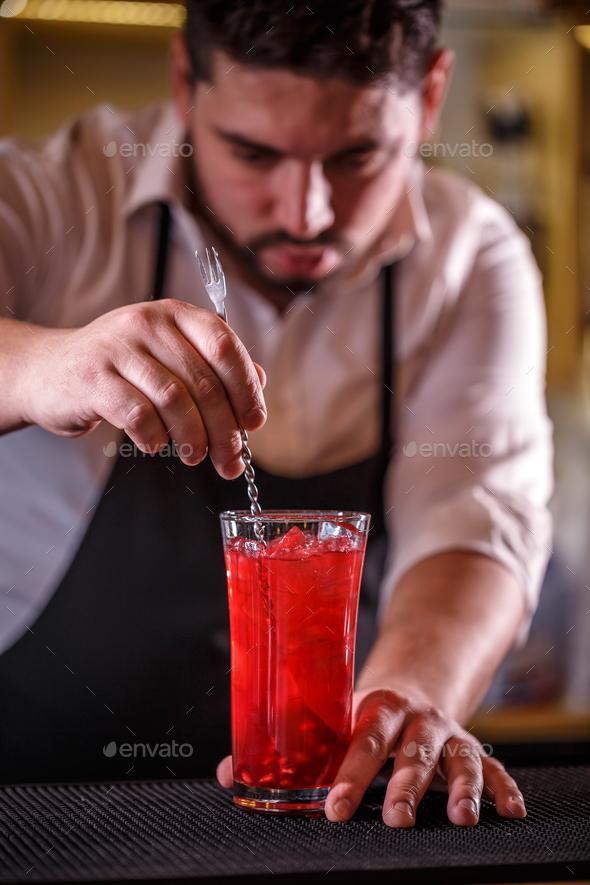 Barman at work - Stock Photo - Images