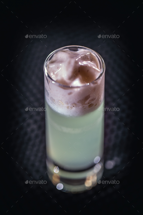 Alcoholic cocktails in shot glas - Stock Photo - Images