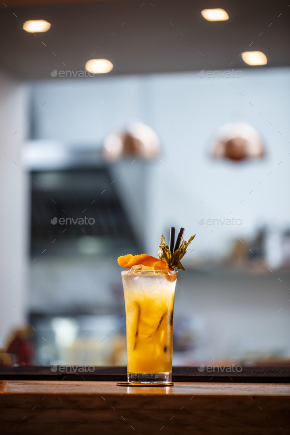 Refreshing cold non-alcoholic cocktail - Stock Photo - Images