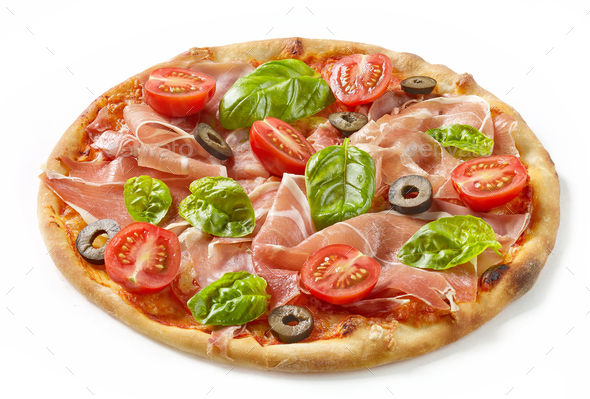 Freshly baked pizza - Stock Photo - Images