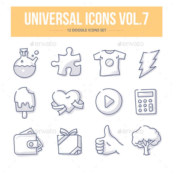 Universal Doodle Icons vol.7 - Objects Icons