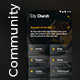 City Church  |  Any community App | 19 Screens App UI Set - GraphicRiver Item for Sale