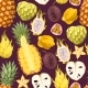 Seamless Exotic Fruit - GraphicRiver Item for Sale